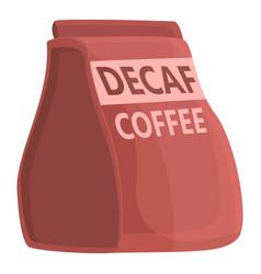 Bag decaf coffee icon cartoon style vector