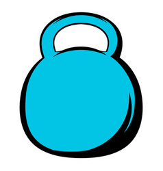 black kettlebell icon icon cartoon vector image