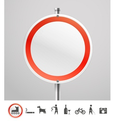 Blank round urban sign vector