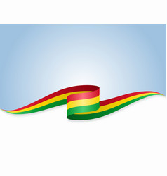 bolivian flag wavy abstract background vector image