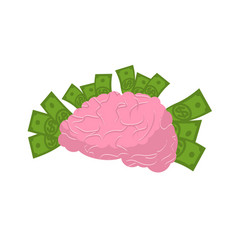 brain and money isolated business idea concept vector image