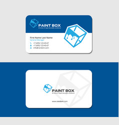 Business card for graphic designer vector