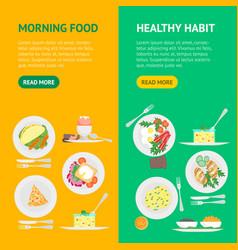 egg breakfast flyer vector images 80