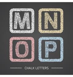 Chalk letters set vector