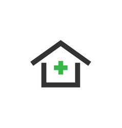 clinic house icon design template isolated vector image
