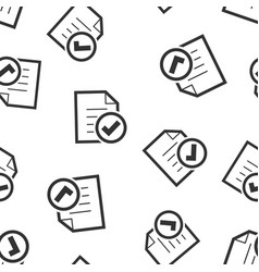 Compliance document icon seamless pattern vector