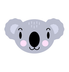 cute cartoon character koala print for baby vector image