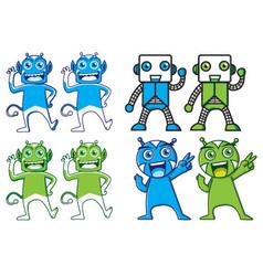 Cute modern tech mascot character vector image