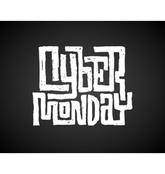 Cyber Monday Chalk Lettering vector