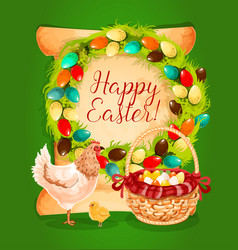Easter spring holiday greeting card design vector