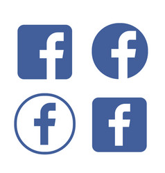Facebook logo facebook icon vector