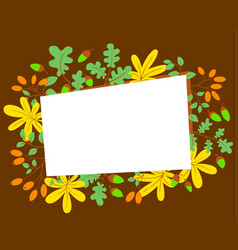 fall season frame autumn border with bright vector image