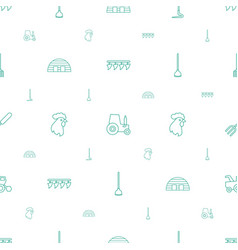 Farming icons pattern seamless white background vector