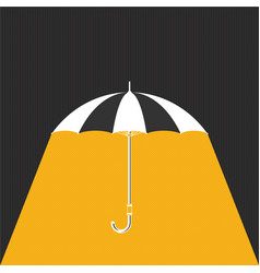 flat umbrella with rain background vector image