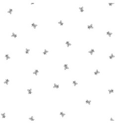 fly seamless pattern background sketch vector image