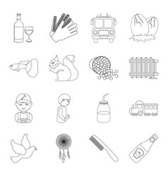 food sport plumbing and other web icon in vector image vector image