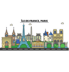 France paris ile de france city skyline vector