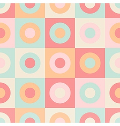 Geometric circles and squares seamless pattern vector image