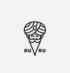 guru logo vector image