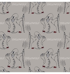 halloween seamless pattern with ghost vector image