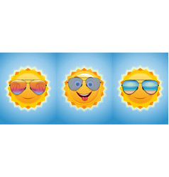 Happy merry sun in sunglasses vector