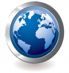 Icon earth globe vector