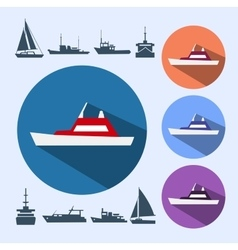 Icons ships vector image