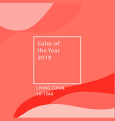 living coral color of the year vector image