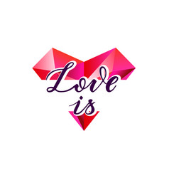 love is heart shape vector image