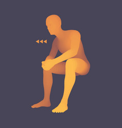 Man in a thinker pose 3d model of man business vector