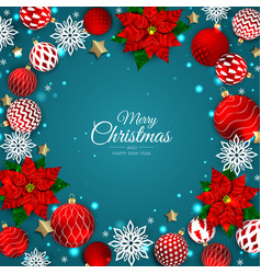 Merry christmas and happy new year xmas vector