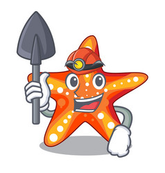 Miner starfish isolated with in the cartoons vector