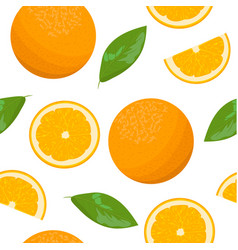 orange theme seamless pattern collection vector image