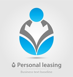 Personal leasing business icon vector