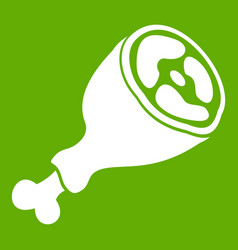 Piece of meat icon green vector