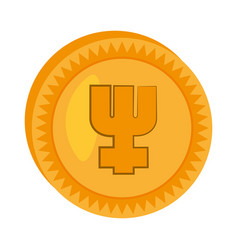 primecoin money golden icon vector image