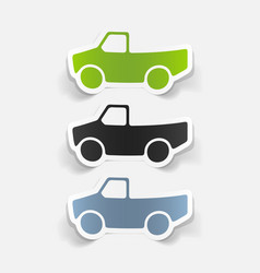Realistic design element car pickup vector