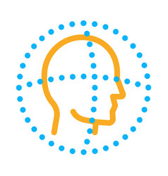 scan head authentication icon outline vector image