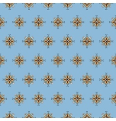 seamless pattern on a blue background vector image