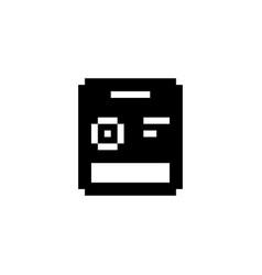 Seed bag pixel icon gardening vector