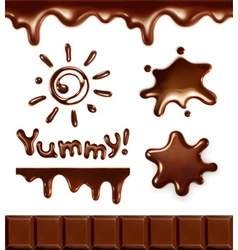 Set chocolate drops vector