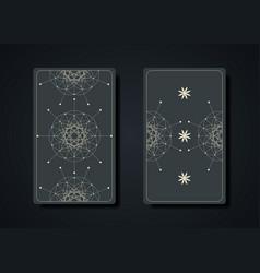 set magical tarot cards magic sacred geometry vector image