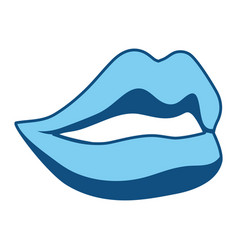 Smile lips gesture vector