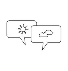 Speech bubbles weather message image vector