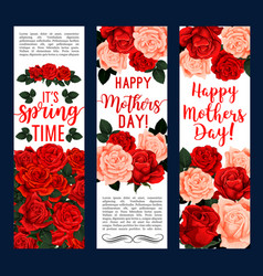 springtime or mother day floral banners vector image