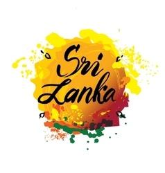 Stamp or label with name sri lanka vector