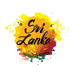 Stamp or label with the name of Sri Lanka vector