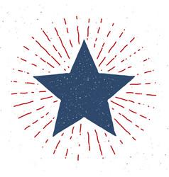 star symbol vintage label grunge textured retro vector image
