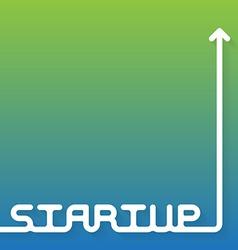 Startup - brochure book cover or flyer design vector image
