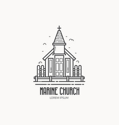 stilted church logo vector image